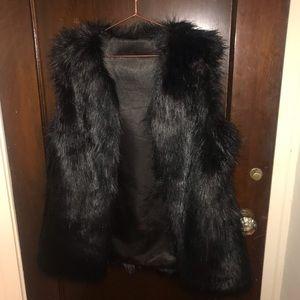 Black Fur Vest size XL